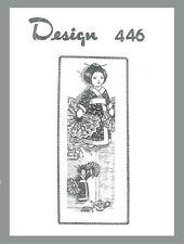 Reproduction vintage farcies oriental doll & motif de couture potholder D446