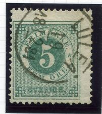SWEDEN;  1877-79 early classic ' ore ' issue fine used 5ore. fair POSTMARK