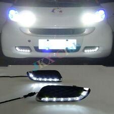 For Mercedes Benz Smart fortwo 2008-11 White LED DRL o Daytime Running Light Fog