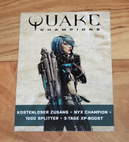 Quake Champions Gamescom 2018 Exclusive Card Rare Collectible