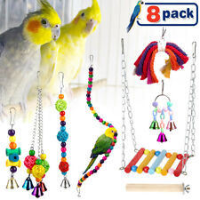 New listing Pet Bird Swing Parrot Parakeet Budgie Cockatiel Cage Hanging Toy Christmas gifts