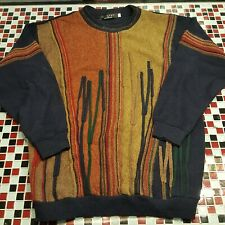 VTG 90's Protege Collection Coogi Style Sweater Multicolor XXL 2XLT 2XL Abstract