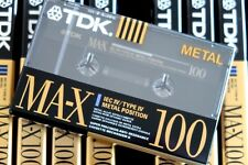 TDK MA-X 100 PREMIUM METAL POSITION TYPE IV BLANK AUDIO CASSETTE - 1990