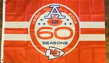 Kansas City Chiefs 60 Seasons Flag 3x5 NFL Football