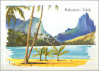 IMAGE CARD Tahiti French Polynesia Pacific Ocean Papeete Polynésie France 60s