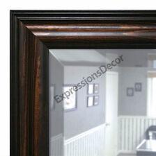 Custom Americana Walnut Beveled Wall Mirror, Mantle & Bathroom Art Decor