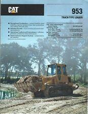 Equipment Brochure - Caterpillar - 953 - Track-Type Loader - 1989 (E5033)