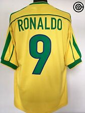 RONALDO #9 Brazil World Cup 98 Home Football Shirt Jersey 1998/00 (L)