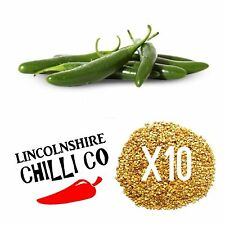 10x Serrano Chilli Pepper Seeds - Easy To Grow - Mexican Spice