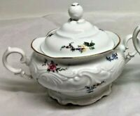 Vintage Wawel Made in Poland  Roses Sugar Bowl