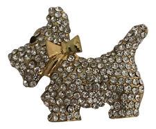 Rhinestone Crystal Scottish Terrier Dog Brooch Westie Dog West Highland Terrier