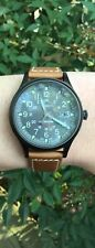 Timex TW4B18400 Men's Solar Expedition Scout Military Brown Leather Band Watch
