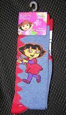 Girls Knee High Socks DORA THE EXPLORE  2 cute Pairs   Size 6-8   Shoe SZ 10.5-4