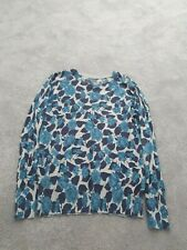 Ladies Oasis Blue Floral Jumper Size L