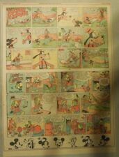 Mickey Mouse & Jose Carioca by Walt Disney from 9/19/1943 Tabloid Page Size