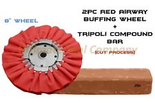 2pc Airway Buffing Wheel(Red) & Tripoli Polishing Compound Jewelry Cut Process