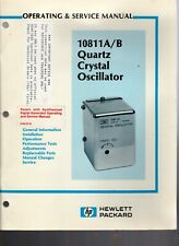 Original Hewlett Packard 10811A/B Quartz Crystal Oscillator Ops&Service Manual