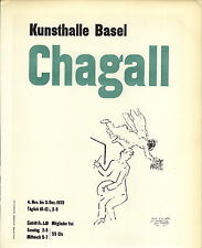 1959 Mini Poster Lithograph ORIGINAL Print Marc Chagall Kunsthalle Basel 1953