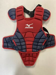 """MIZUNO CHEST PROTECTOR RED AND BLUE YOUTH 14"""""""