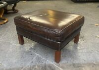 Brown Leather Chesterfield footstool UK DELIVERY AVAILABLE