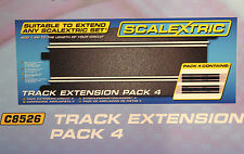 SCALEXTRIC C8526 SPORT STRAIGHT EXPANSION 1/32 SLOT CAR TRACK 4 PIECES OF C8205