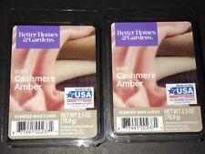2  BETTER HOMES & GARDENS Wax Melts SOFT CASHMERE AMBER 2.5 Oz Each