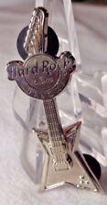 Vintage Hard Rock Casino Biloxi Silver Tone Electric Guitar Brooch Pin
