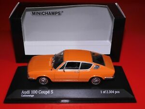 AUDI 100 COUPE S 1969 - CADIZOORANGE- 430019121 MINICHAMPS - SCALE 1:43 - OVP