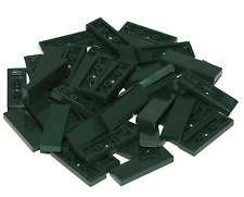 LEGO LOT OF 50 NEW DARK GREEN 1 X 3 TILES FLAT SMOOTH PIECES PARTS
