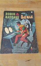 1966 ROBIN IN THE BATCAVE WITH BATMAN COLORING BOOK USED