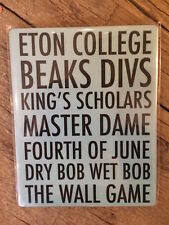ETON COLLEGE MUG COASTER DIVS BEAKS THE WALL GAME - NEW IN CELLO