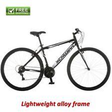 Schwinn Hybrid Bike 700C Men's Black Cruiser Alloy Frame Sport Road Bicycle New!