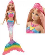 Mattel Puppe blond Barbie Regenbogenlicht MEERJUNGFRAU mit Licht leuchtet