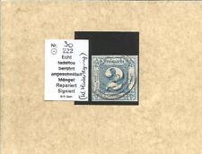 Th & T Nr.-Stpl / 222 Auma zentriert auf breitrand 20, kl. Hinterlegung, feinst