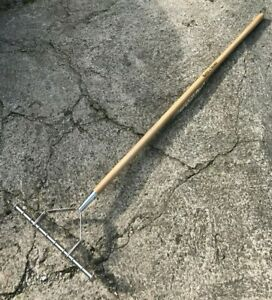 Kent & Stowe Long Handle Stainless Steel Lawn Scarifying Rake - Scarifier, Moss