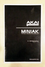 Akai Miniak Referance Manual - Oem print from Akai - Original Referance Manual