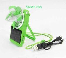 USB Solar Mini Fan Portable Handheld Summer Cool w Rechargeable Batteries EG05G