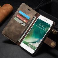 Flip Leder Portemonnaie Purse Detachable Magnetisch Hülle Für iPhone X XS Huawei
