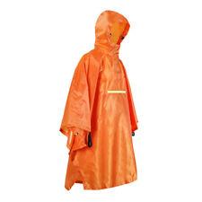 Waterproof Poncho Bike Cycling Bicycle Reflective Strips Raincoat Orange