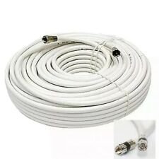 75ft.Rg6 . Tri shield,White Coaxial Antena cable. Hd Satellite Cable.Tv Antenna.