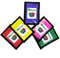 Gulal Holi Colours Powder Festival Herbal Colours 5 Packets x 100gms Each