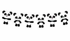 "4"" Tall Panda Bear Garland, Panda Bear Banner, Panda Bear Baby Shower"
