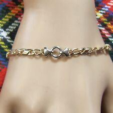 9 ct GOLD  second hand fancy 2 colour bracelet