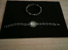 MARCISITE WATCH AND BRACELET