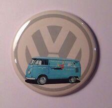 "Vintage Style VW Logo Volkswagen Bus Fridge Magnet 2 1/4"""