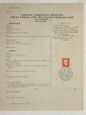 LETTRE DEMANDE ASSISTANCE TRAVAILLEUR FRANCAIS STO ORGANISATION TODT LILLE 1943