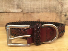 Chaps Braided Belts Navy Brown Ivory  36-44 NEW
