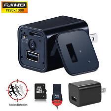 HD 1080P Mini USB WALL AC Adapter US EU Plug Charger Spy camera Nanny FBI DV 8GB