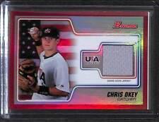 2010 Bowman USA Baseball Red Relic Chris Okey #USAR-13 4/50 NM