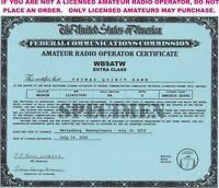 Amateur Radio Operator Certificates